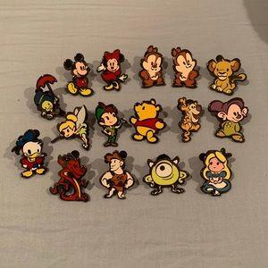 Disney cute stylized pin set